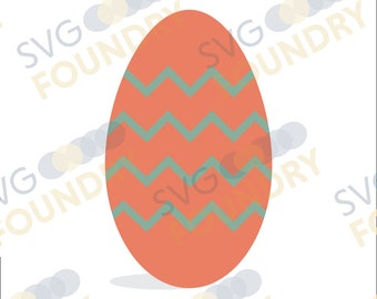 Cheveron Easter Egg SVG/DXF