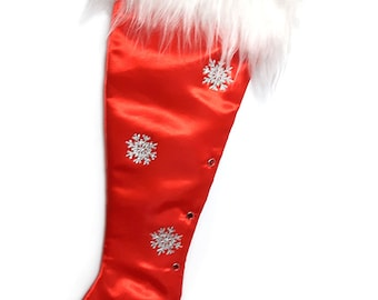 Precious Gems - Red Ruby  Stiletto Christmas Stocking