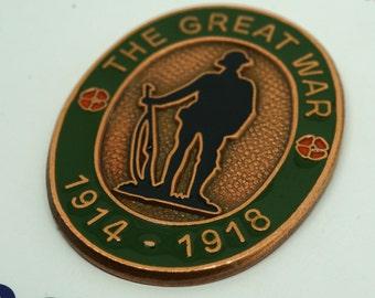 WW1 1914-1918 The Great War Enamel Badge