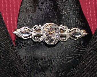Steampunk Clockwork Tie Clip