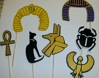 Egyptian Photo Booth Props / Egyptian symbols / Walk like an Egyptian into the Party! (2166D)