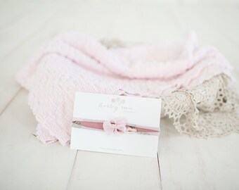 Photography Chenille Soft Pink Texture Layer Prop Set
