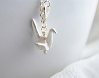 Silver Origami Crane Delicate Chain Bracelet (Also in Gold!)