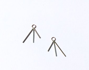 three prong earring jackets