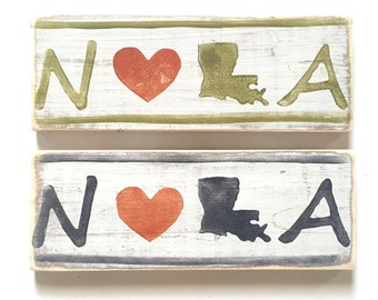 NOLA: Wood Sign, New Orleans Gift, New Orleans Sign, Southern Gift, NOLA Art, French Quarter, New Orleans Wholesale