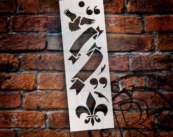 "Proclamation Bookmark Art Stencil - 6"" x 2"" - STCL903 by StudioR12"