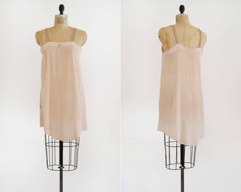 Dancing Away Romper / 1920s pink silk teddy / vintage silk romper lingerie