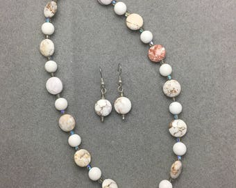 As White as Snow Necklace and Earring Set