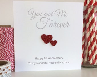 Handmade st anniversary mummy and daddy gift heart wedding