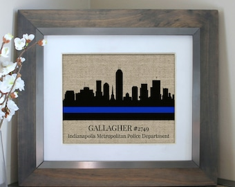 Police Officer Gifts | Police Wife | Skyline Police Gifts | Choose A City | Police Academy Graduation Gift | Gifts for Dad | Thin Blue Line