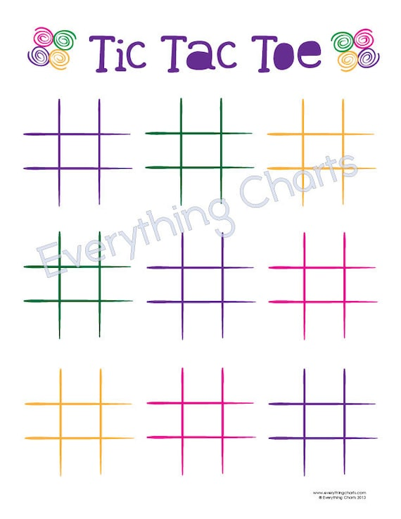 Gratifying image with regard to printable tic tac toe