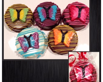 Butterfly Chocolate Covered Oreos - Set of 12 Butterflies