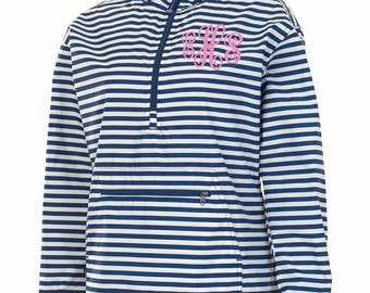 Monogrammed Charles River Lined Jacket, Charles River Lined Pullover Jacket, Lined Women's Chatham Anorak Pullover Jacket,Monogrammed Jacket