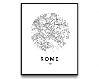 Rome Map Poster, Map Of Rome Poster, Rome Map, Rome City Map, Rome Print, Map Wall Art Poster, Map Print, Printable Art, Art Print