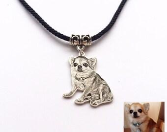 Custom Portrait, Portrait Necklace, Dog Lover Necklace, Poppy Necklace, Portrait Necklace, Pet Loss, Pet Keepsake, Engraved Photo