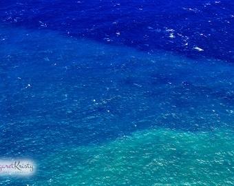 Tropical Ocean - Island sea water Hawaii blue photograph