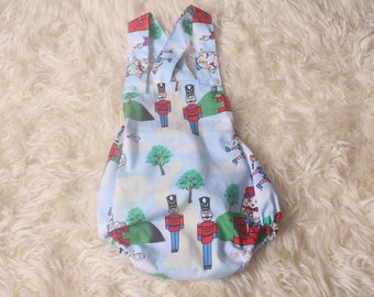 Photo Shoot Prop,Sitter 12 mth size Humpty Dumpty fabric Romper,adjustable shoulder straps, Handmade by me,I ship Worldwide,Made in the uk.