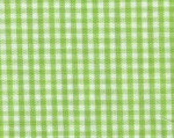 "HALF YARD 1/16"" Bright LIME Fabric Finders Gingham"