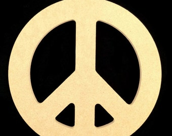 "16"" Peace Sign made out of 1/2"" MDF A"
