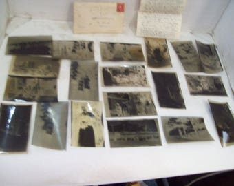 1920's Photo Photography Negatives, Envelope and Letter to Photographer Free shipping