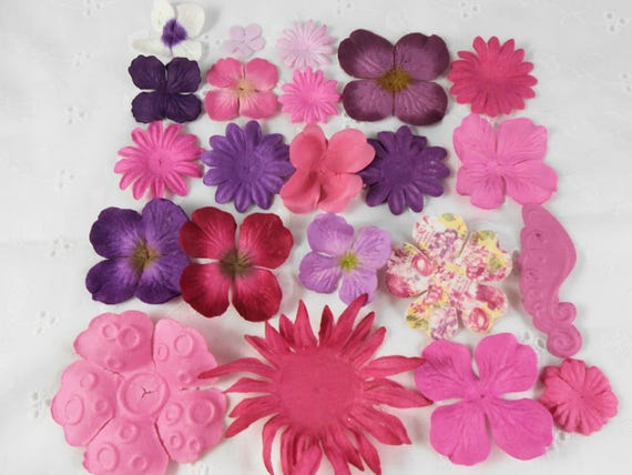 Prima paper flowers pink and purple assortment no 309 got flowers prima paper flowers pink and purple assortment no 309 got flowers scrapbooking prima flowers mulberry paper flowers sampler floral card from creativebounty mightylinksfo