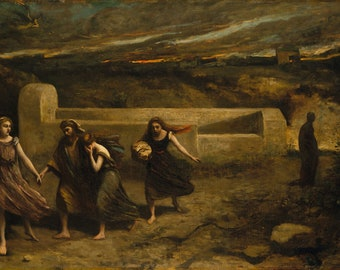"""Camille Corot : """"The Burning of Sodom"""" (1843 and 1857) - Giclee Fine Art Print"""