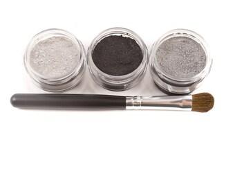 4pc BLACK TIE Eyeshadow Mineral Makeup Kit
