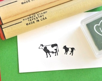 Cow and Calf  Rubber Stamp Set