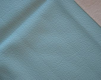 Fabric faux leather TURQUOISE 45 * 50cms