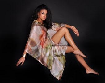 Art scarf silk