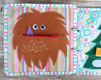 """Selection of """"Pocket"""" Pages - Quiet Book, Activity Book, Toddler Quiet Book, Felt Book, Gift for Kids, Soft Book, Fabric Book, Busy Book"""