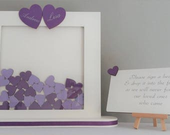 Personalised guest book ideas, Wedding guest book alternative, Wedding drop box guest book, Personalised drop box guestbook