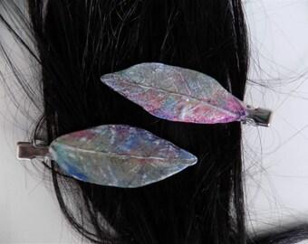 Fairy Leaf Barrettes