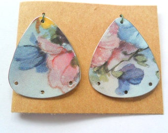 Upcycled Chocolate Tin Earring Findings Pair