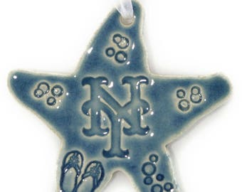 New York Mets Baseball Team Ceramic Starfish Ornament