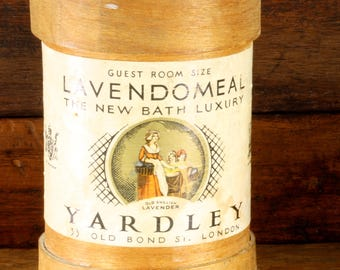 Wooden Vintage Yardley Lavendomeal Bath Guest Room Container