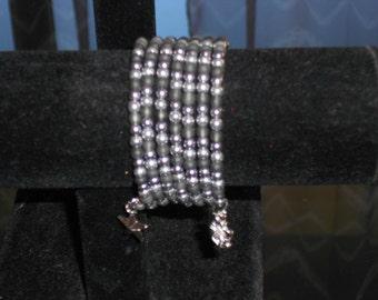 Memory bracelet grey and silver