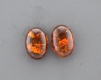 Baltic Amber Cabochon Pair