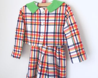 Vintage girls suit pleated skirt and jacket 4t
