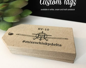 Custom Logo Tags, Custom Tags, Personalized Tags, Product Tags, Gift Tags, Personalized Tags - Set of 50
