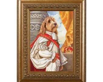 Goldendoodle, Dog Magnet, Count Doodle, Refrigerator Magnet, Dogs in Clothes