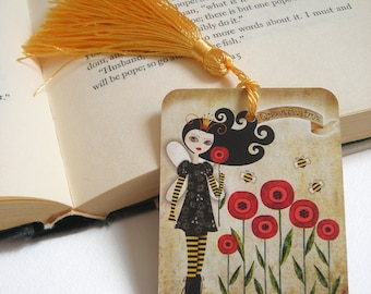Queen Beatrix Fantasy Spring Bookmark with Tassel