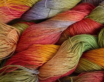 Linen 16/4, Hand painted yarn 300 yds -  Tex Mex