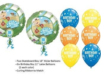Skateboard Boy Balloons