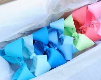 """Large Bow Set - Custom 5 Inch Hair Bows - Twisted Boutique Bow - 10 Solid Color Bows - 5"""" Boutique Hairbow Pack - Choose Color - Big Bows"""