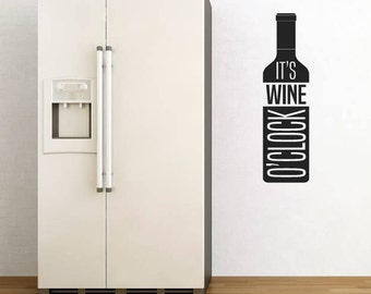 Wall Sticker Quote - It's Wine O'Clock