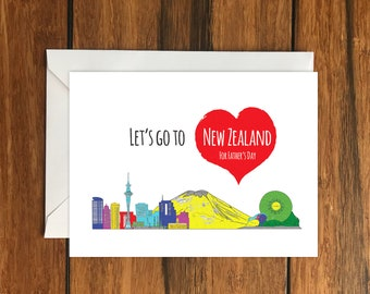 Let's Go To Dublin For Father's Day Blank greeting card, Holiday Card, Gift Idea A6