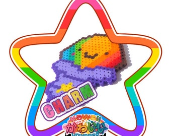 Kawaii Cute Rainbow Shaced Ice Macro Charm