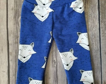 "Doll Leggings, 18"" Doll Clothes, Blue Fox Doll Pants"