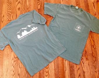 COMFORT COLORS Light Green Mountain short-sleeve pocket - Never Settle Apparel